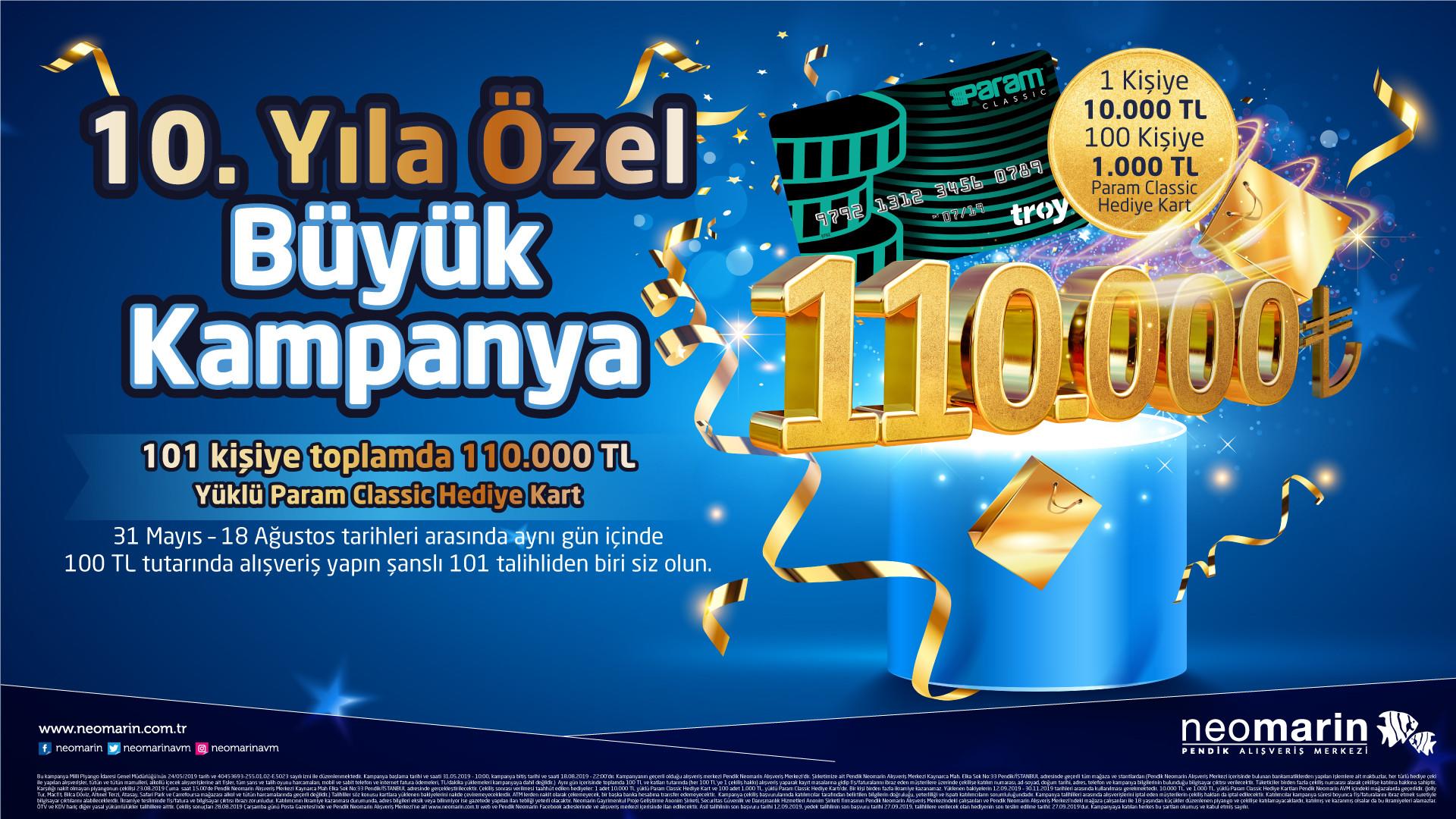 10. Yıla Özel Büyük Kampanya