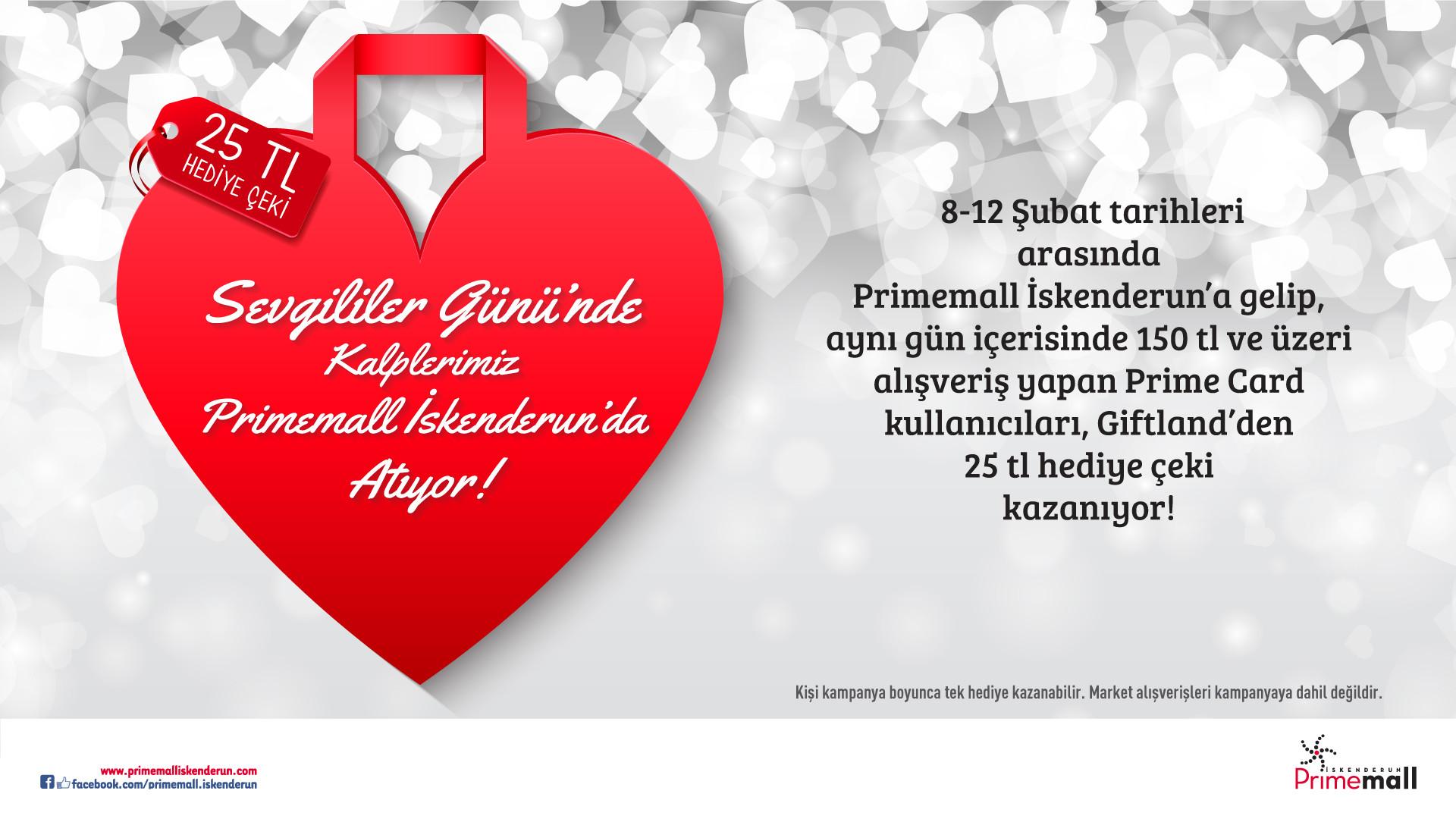 Sevgililer Günü'nde Kalplerimiz Primemall İskenderun'da Atıyor