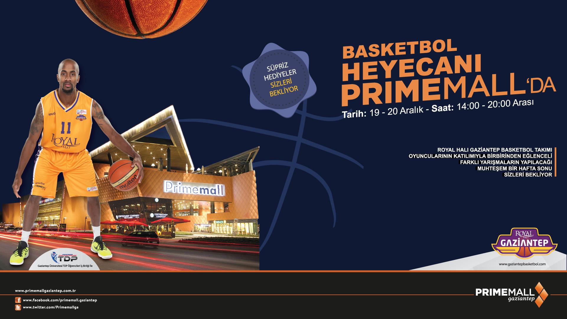 Basketbol Heyecanı Primemall'da