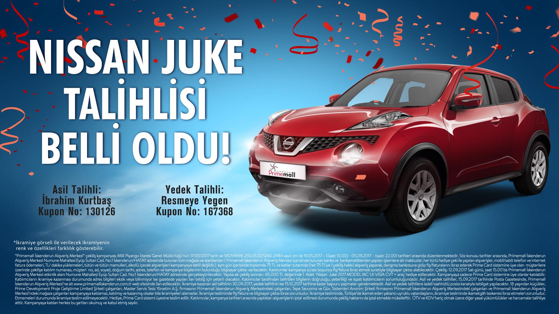 Nissan Juke talihlisi Belli Oldu!