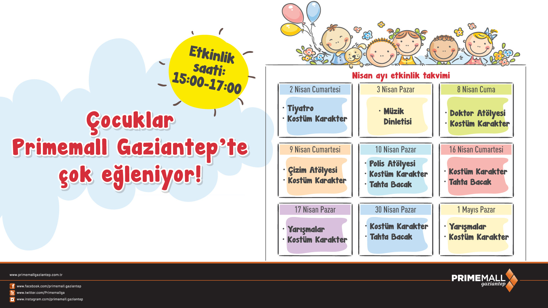 Çocuklar Primemall Gaziantep'te Çok Eğleniyor!