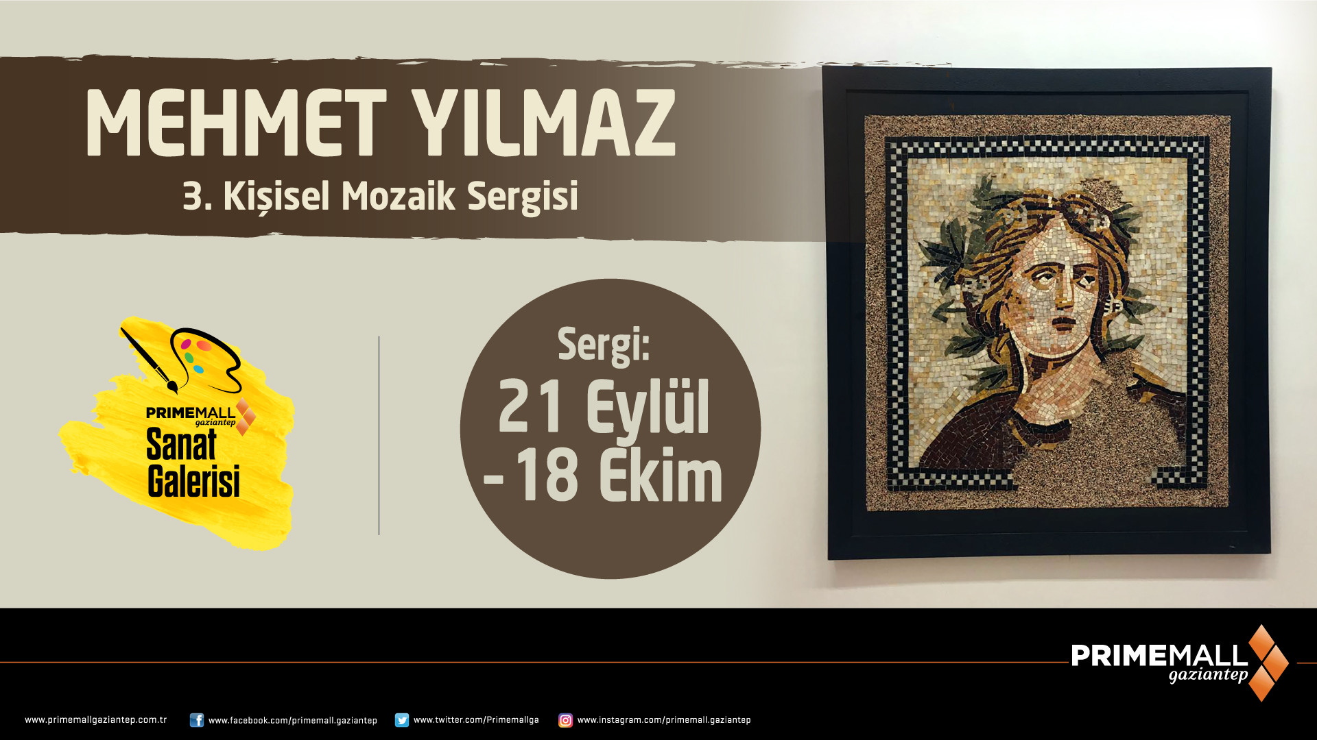 Mehmet Yılmaz 3. Kişisel Mozaik Sergisi