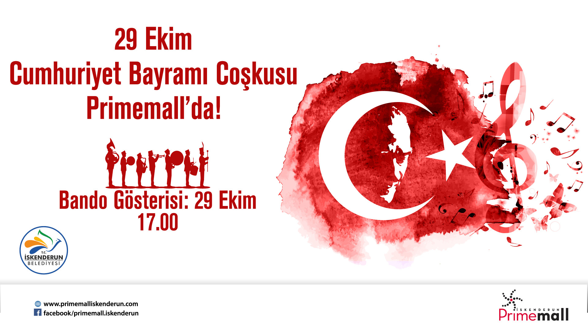 29 Ekim Cumhuriyet Bayramı Bandosu Primemall'da