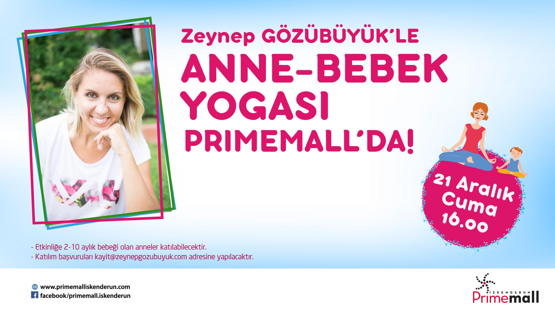 Zeynep Gözübüyük'le Anne-Bebek Yogası Primemall'da