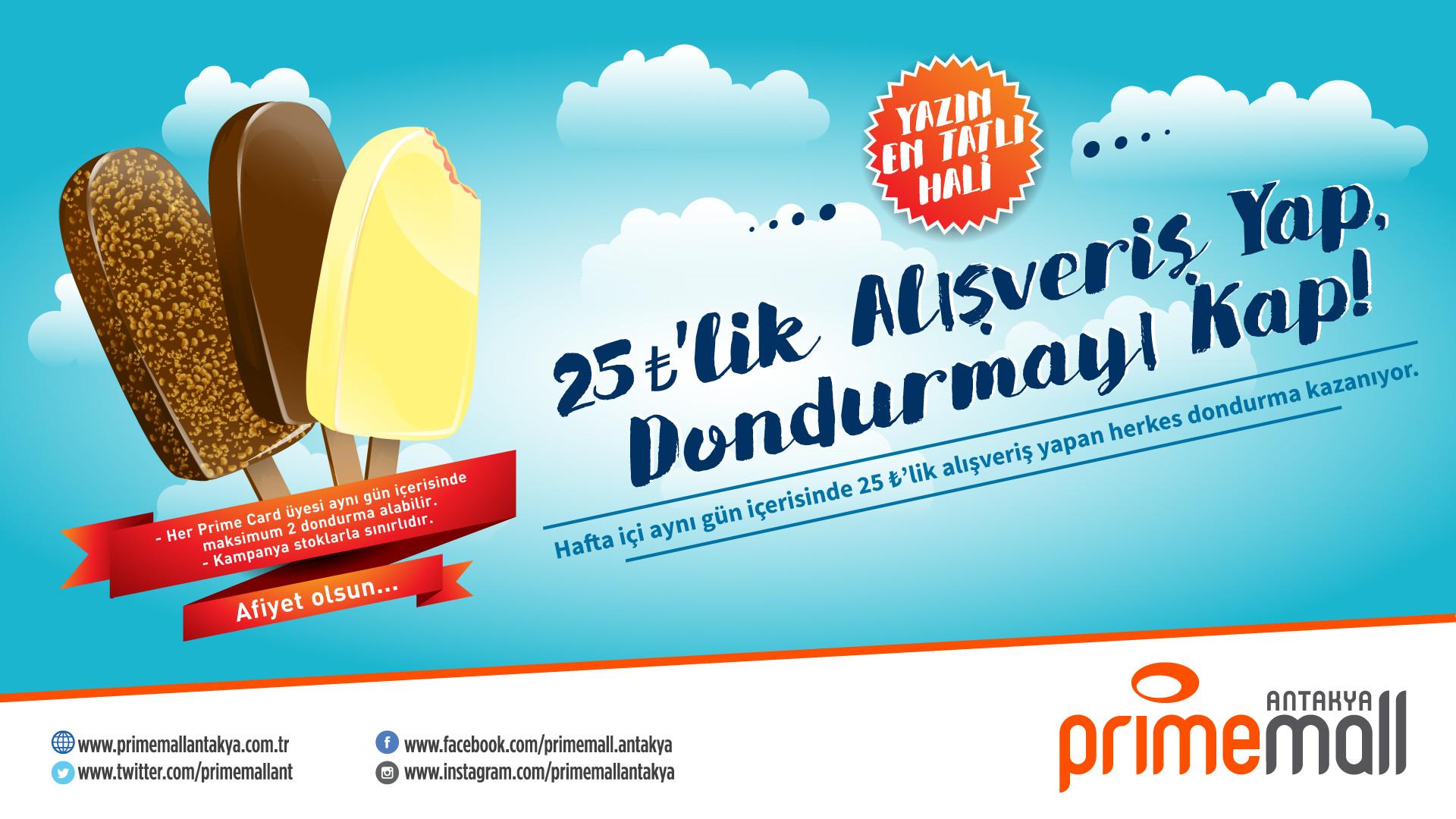 25 TL'lik Alışveriş Yap Dondurmayı Kap