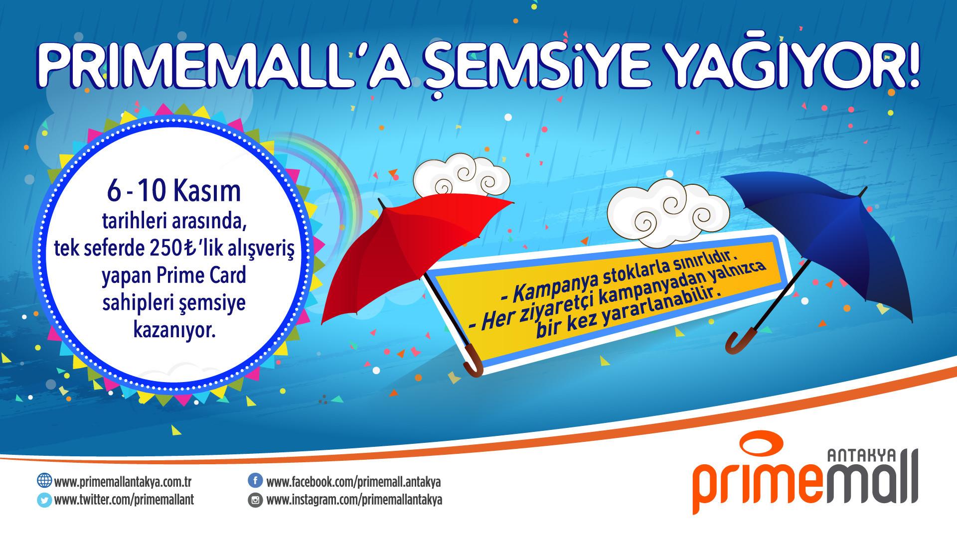 Primemall'a Şemsiye Yağıyor!