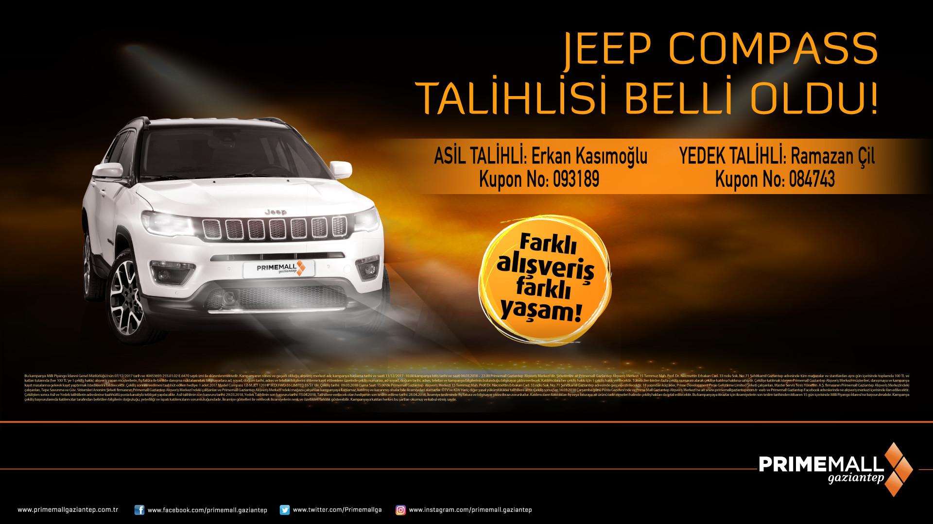 Jeep Compass Talihlisi Belli Oldu!