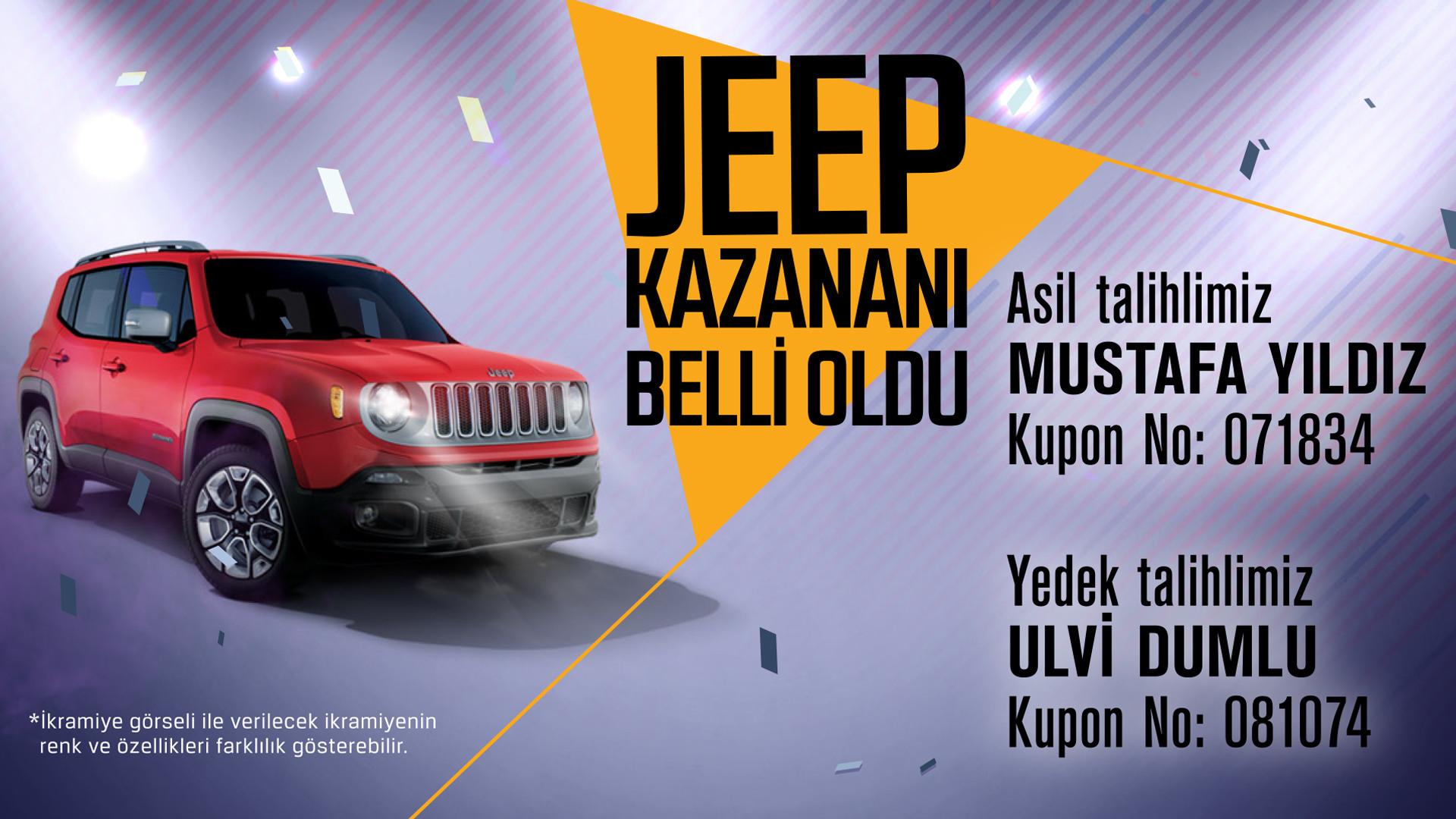 Jeep Kazananı Belli Oldu