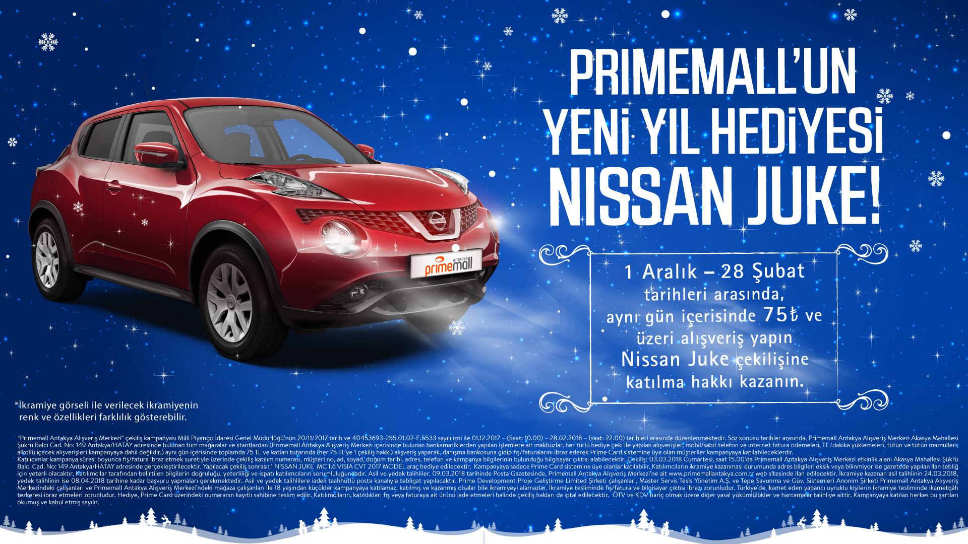Primemall'un Yeni Yıl Hediyesi Nissan Juke!