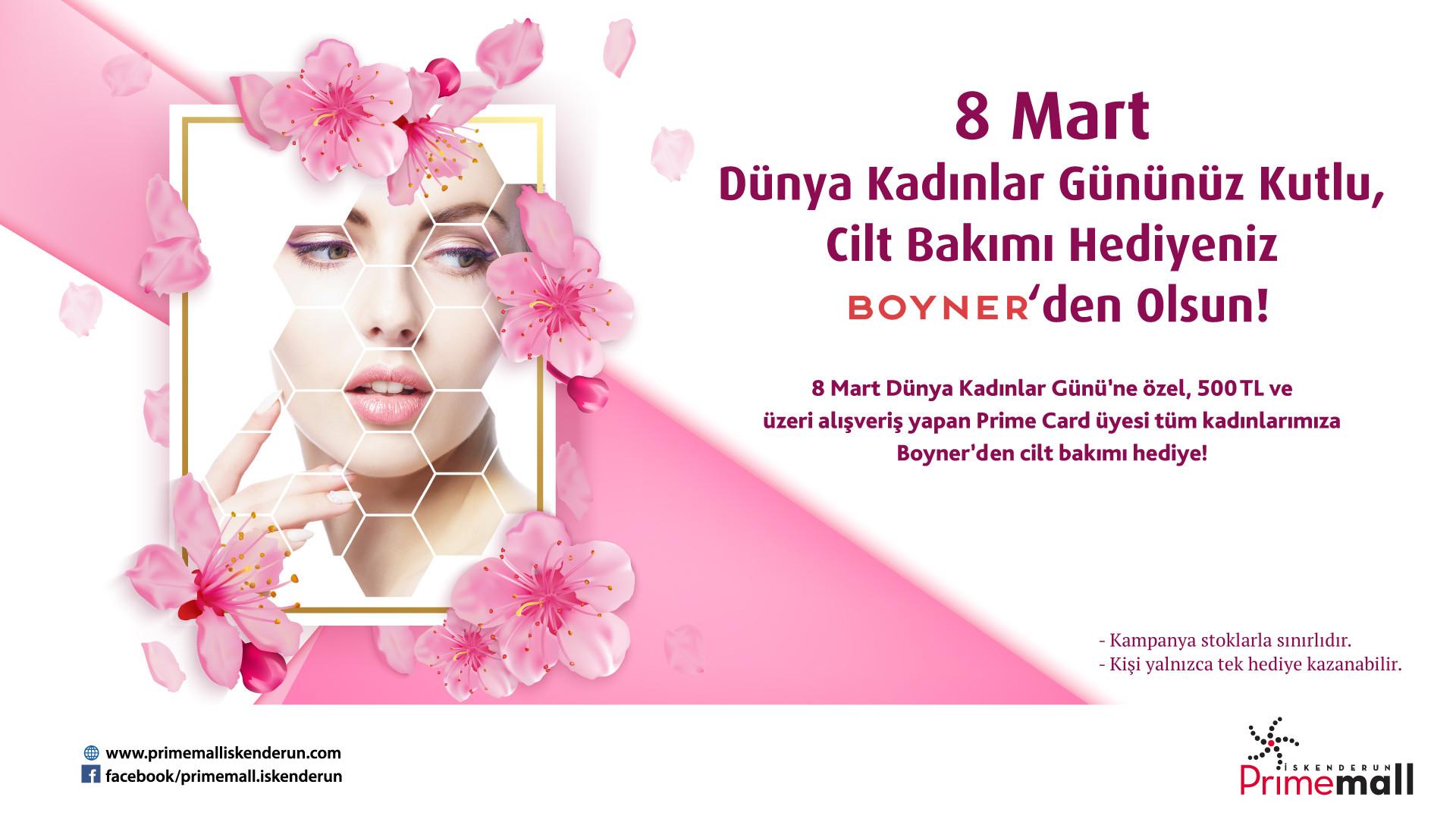 8 Mart Dünya Kadınlar Gününüz Kutlu, Cilt Bakımı Hediyeniz Boyner'den Olsun