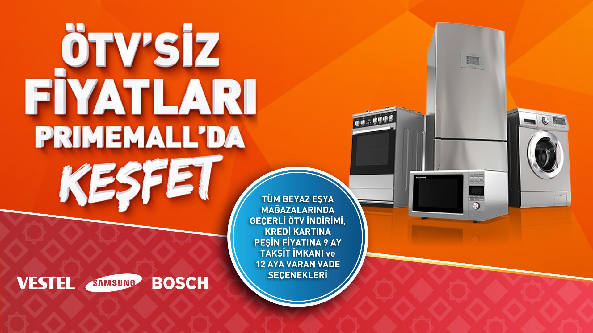 ÖTV'siz Fiyatları Primemall'da Keşfet