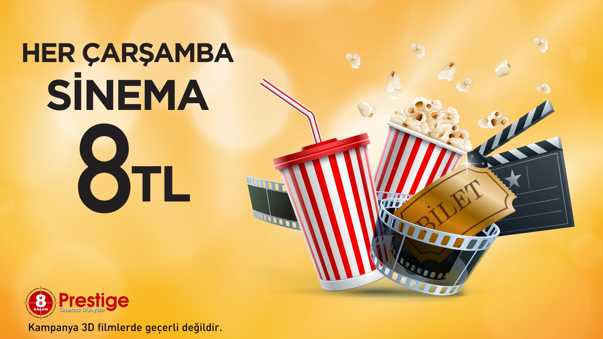 Her Çarşamba Sinema 8 TL
