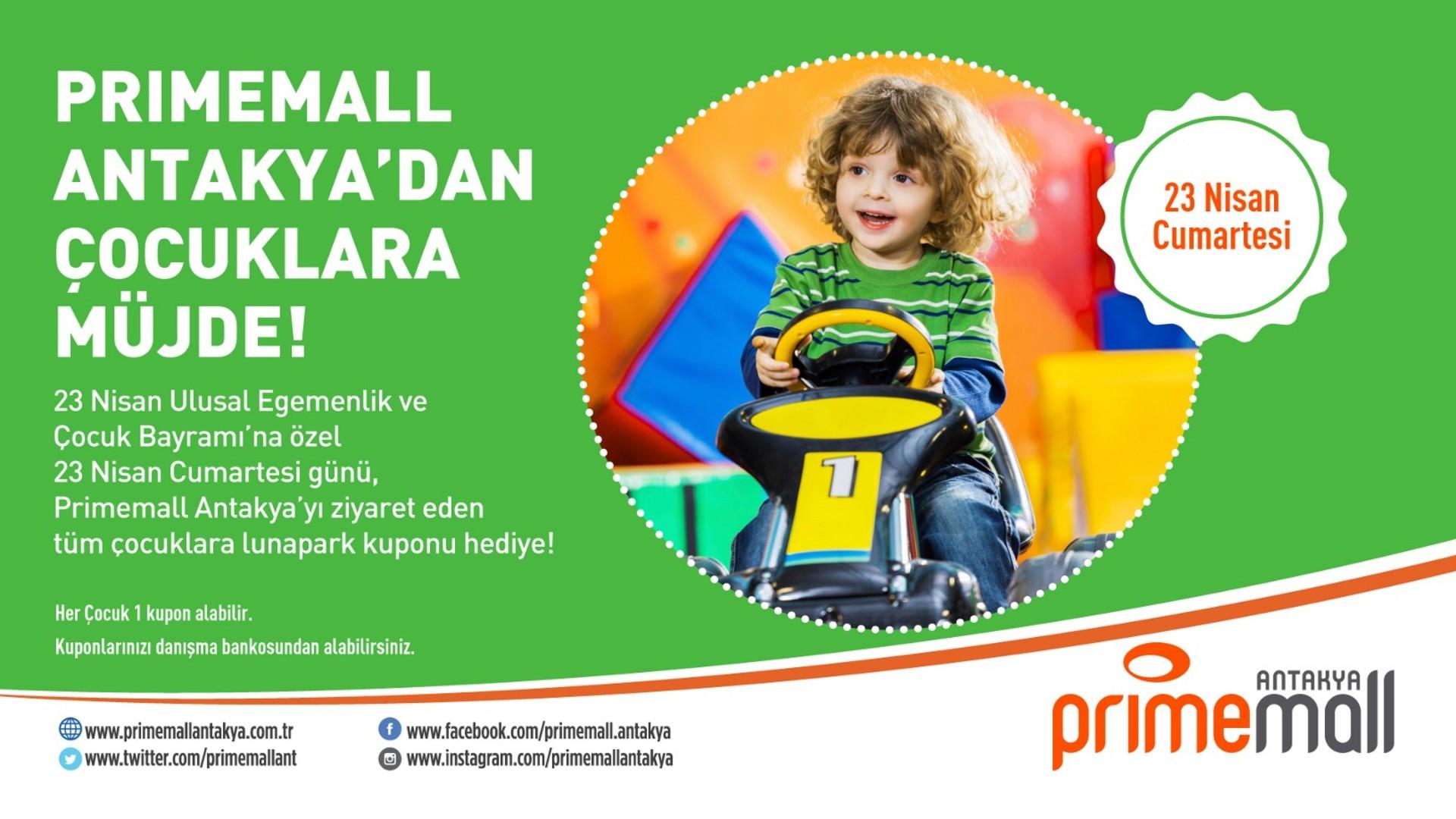 Primemall Antakya'dan Çocuklara Müjde!