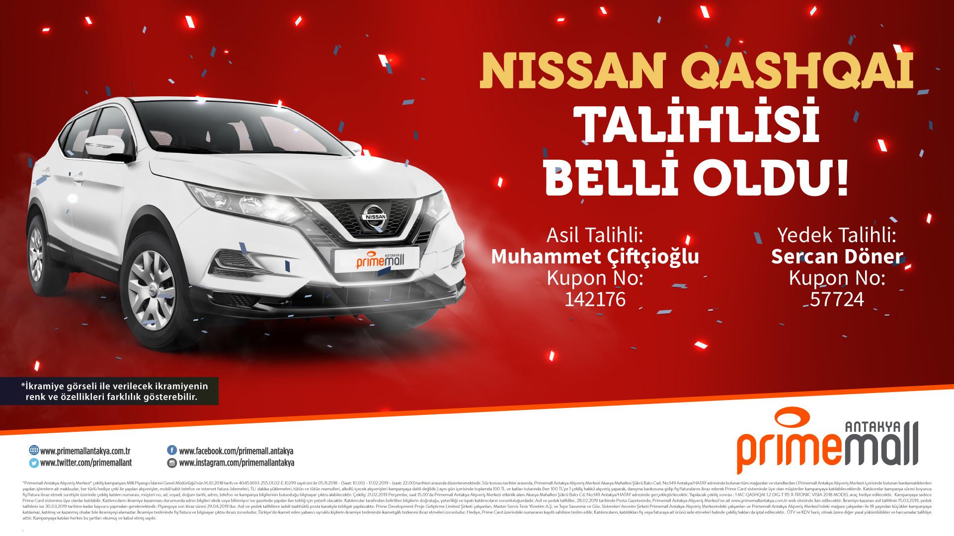 Nissan Qashqai Talihlisi Belli Oldu