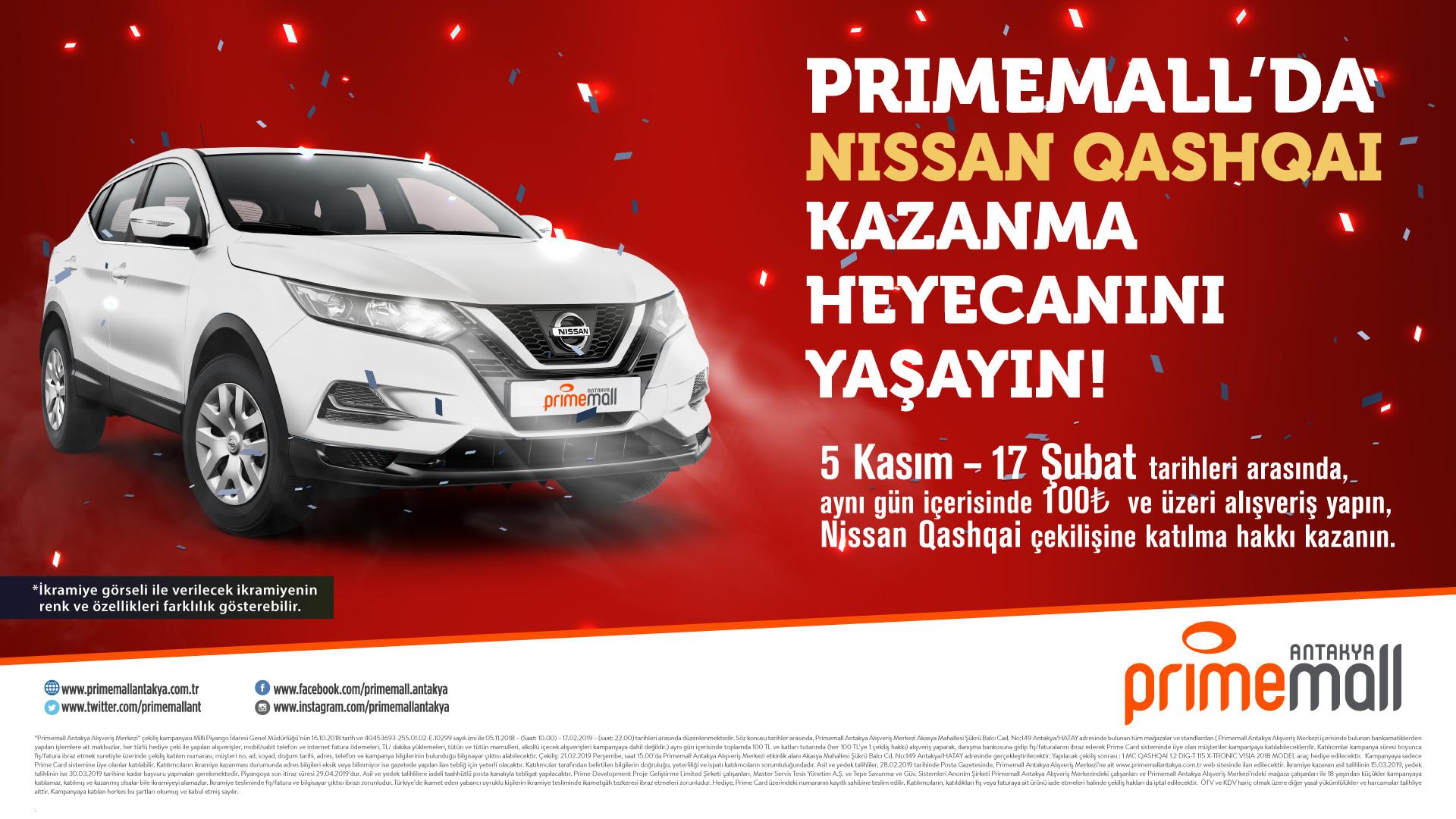 Primemall'da Nissan Qashqai Kazanma Heyecanını Yaşayın!