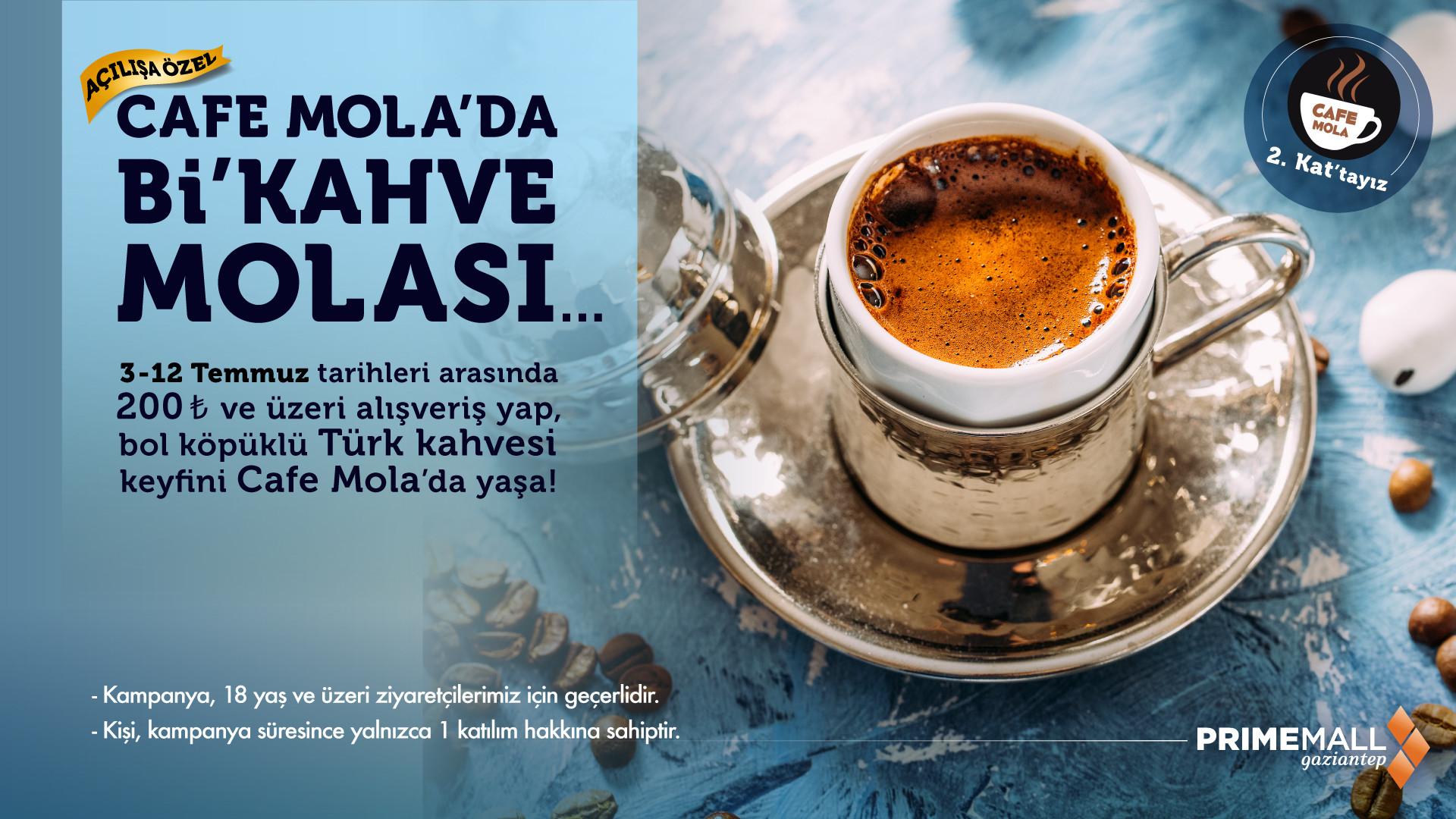 Cafe Mola'da Bi'Kahve Molası